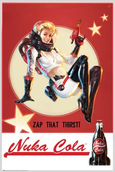 Fallout 4 Nuka Cola 2 - Official Poster. Official Merchandise. Size: 61cm x 91.5cm. FREE SHIPPING