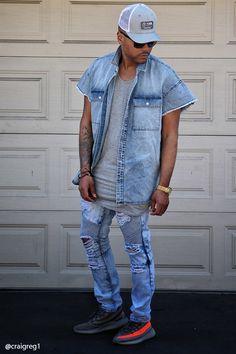 516c6632606e73 Cap Sleeve Denim Shirt Denim Shirt, Jeans, 21 Men, Cap Sleeves, Man