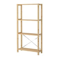 IVAR 1 section with shelves IKEA Untreated solid pine is a durable natural material that can be painted, oiled or stained according to preference.