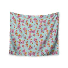 "Laura Escalante ""Paper Flower"" Wall Tapestry"