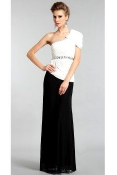 Find formal one shoulder mermaid, trumpet chiffon floor length evening dresses, evening dresses, formal dresses at discount prices Cheap Prom Dresses Uk, Affordable Wedding Dresses, Dresses For Teens, Event Dresses, Formal Dresses, Party Dresses, Black And White Cocktail Dresses, Evening Gowns Online, Prom Dress Shopping