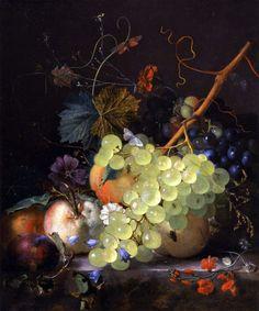 canvasobsession-deactivated2013:  Jan van Huysum Fruit Still life