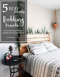 5 Eco-Friendly Bedding Brands you Need to Know before Buying Your Next Bed Sheets — Sustainably Chic 5 Eco-Friendly Bedding Natural Bed Sheets, Cool Comforters, Eco Friendly Cleaning Products, Do It Yourself Inspiration, Eco Friendly House, Sustainable Living, Sustainable Energy, Sustainable Design, Sustainable Fashion