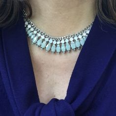 Cosette Necklace - In grey.  Also comes in blue and pink.