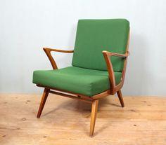 sessel Formschöner 50er Jahre Sessel, Nussbaum, neu bezogen ...