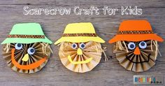 This scarecrow paper craft for kids is an adorable piece of art to both create and display.