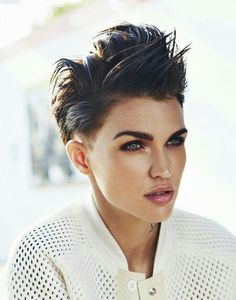 Ruby Rose. Holy Christ, this woman is beautiful! I want to look like her when I grow up!!!