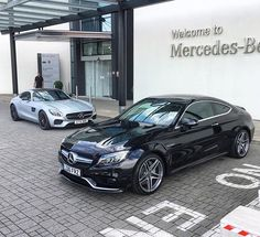 Mercedes C63 AMG coupe.