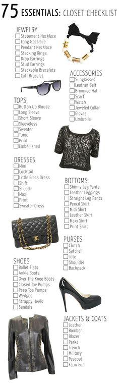 75 Essentials: Closet Checklist - Corri McFaddenCorri McFadden