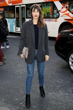 Jeanne Damas - Stella McCartney : Outside Arrivals  - Paris Fashion Week Womenswear Fall/Winter 2014-2015