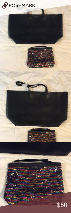 🎉Offers Welcome🎉 Victoria's Secret bag NWT Victoria's Secret bag and makeup bag. Victoria's Secret Bags
