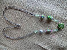 collana con murrine e cristalli