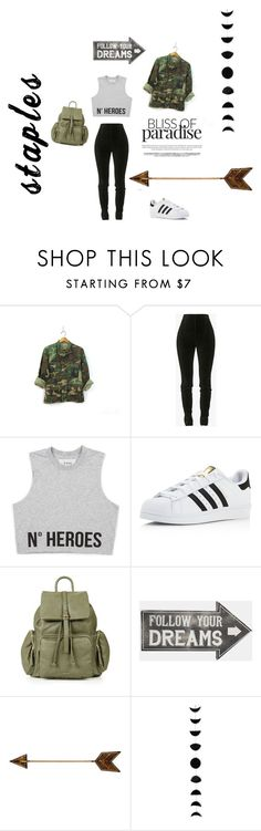 """""""Untitled #29"""" by malina-dobrescu ❤ liked on Polyvore featuring Balmain, adidas, Topshop and Sass & Belle"""