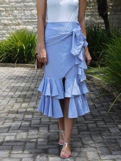 saia com babados, saia midi, tendência, moda, estilo, inspiração, look do dia, Gabi May, ruffles, midi skirt, trend, fashion, style, ootd
