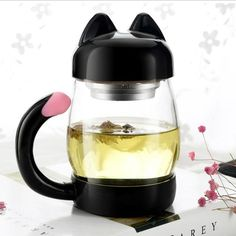 Cheap glass mug, Buy Quality wholesale glass mugs directly from China mug wholesalers Suppliers: Cute Cat Glass Mug With Filter Coffee Tea Drinkware Cup Outdoor Travel Wholesale Cooking Kitchen Gadgets Accessories Cat Lover Gifts, Cat Gifts, Cat Lovers, Lovers Gift, Crazy Cat Lady, Crazy Cats, Glass Tea Cups, Cat Cafe, Kitty Cafe