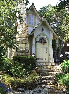 Cute little fairy tale style cottage Storybook Homes, Storybook Cottage, Cute Cottage, Cottage Style, Cottage Door, Cottage Chic, Fairytale Cottage, Carmel By The Sea, Cabins And Cottages