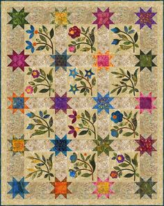 Spring Sprouts (Edyta Sitar)  New B O M at Texas Quiltworks