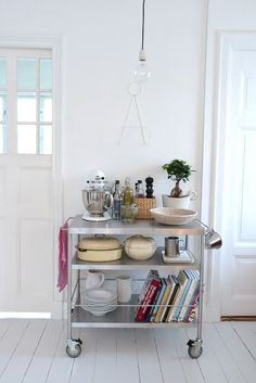 If you have the space, a kitchen cart can serve multiple purposes. - If you have the space, a kitchen cart can serve multiple purposes. Ikea Kitchen Cart, Small Kitchen, Small Space Kitchen, Home, Small Kitchen Organization, Kitchen Remodel, Ikea Kitchen, Tiny Kitchen, Home Decor
