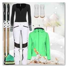 """""""SKI"""" by pepitarita ❤ liked on Polyvore featuring Free People, Christian Lacroix, Arc'teryx, Yves Saint Laurent, Swix, women's clothing, women's fashion, women, female and woman"""
