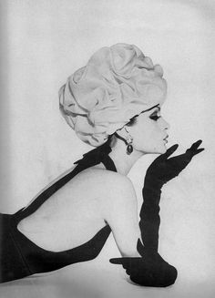 Isabella Albonico wearing Balenciaga. Photographed by Gleb Derujinsky for Harper's Bazaar, April 1961