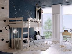 Crazy And Best Renovation Ideas for Your Child's Bedroom to Make It More Comfortable 15 Cozy Bedroom, Kids Bedroom, Bedroom Decor, Bedroom Ideas, Blue Bedroom, Kids Rooms, Kids Room Design, Headboards For Beds, Kid Spaces
