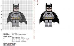 Lego Superheroes Batman free cross stitch pattern
