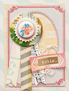 Card using my new STYLEBOARD collection for Crate Paper!