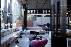 Tribe Hotel Perth is a modern hotel in Perth, Australia designed by Idle Architecture Studio that applies a unique, innovative prototyping process of using 63 prefabricated modules built off-site.