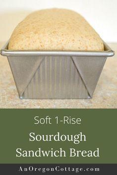 Sourdough Sandwich Bread Recipe, Soft Sourdough Bread, Whole Wheat Sourdough, Sourdough Recipes, Dough Starter Recipe, Sourdough Starter Discard Recipe, Bread Starter, Starter Recipes, Bread Machine Recipes