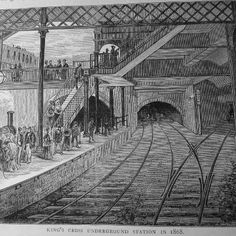 It's 150 years since the public first rode on the London Underground. Here's what King's X looked like in 1868(picture from 'Old and New London' pub 1878).