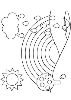 25 Colorful Rainbow Coloring Pages For Your Little Ones Preschool Coloring Pages, Printable Coloring Pages, Coloring Sheets, Colouring, Art For Kids, Arts And Crafts, Artsy, Symbols, Letters