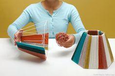 Make A Lampshade, Lampshades, Diy Lustre, Luminaria Diy, Rope Pendant Light, Tv Stand Decor, Origami Lamp, Creative Lamps, Bamboo Weaving