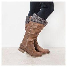 Women's Muk Luks Bianca Slouch Boots - Brown 10