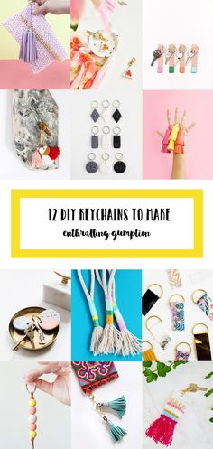 12 Fun & easy to make DIY Keychains from the crafting community @enthralling_g