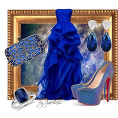 """Blue Mode"" by izabellaml on Polyvore"