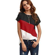 2018 Women's Color Block Chiffon Shirts Short Sleeve Casu... https://www.amazon.com/dp/B07B3JZ8R7/ref=cm_sw_r_pi_dp_U_x_8V-WAb8N5NMNS