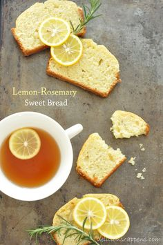 from The Harvest Kitchen / this Lemon Rosemary Pound Cake is light and delicious and the hint of rosemary adds a beautiful festive flavor! @theharvestkitchen.com