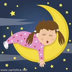 Condividi sui social network questa gif animata per augurare una buonanotte a tutti i tuoi amici! L'immagine può essere condivisa gratuitamente!