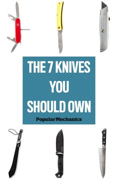 With these seven essential knives, you'll be equipped to take on steaks, branches, and even the occasional zombie.
