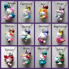 Zodiac Hello Kitty Necklaces Dual Package  (PICK any 2 Zodiac signs). $75.00, via Etsy.