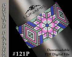 Peyote bracelet pattern, odd count, peyote pattern, stitch pattern, pdf file, pdf pattern, #121P