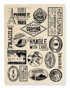 Luggage Labels Background - Rubber Stamp
