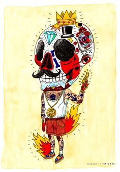 Skull Boy for tattoo Naive Art, Skull And Bones, Art Design, Skull Art, Great Artists, Sculpture, Graphic Illustration, Art Drawings, Graffiti