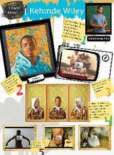 See the Glog! 5 facts about kehinde wiley: text, images, music, video Art Lessons For Kids, Art Lessons Elementary, Art For Kids, Art History Timeline, Art Classroom Management, Kehinde Wiley, 8th Grade Art, Artist Project, History Projects