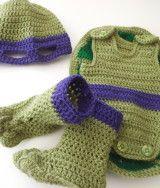 Teenage Mutant Ninja Turtle Baby Outfit Crochet Pattern