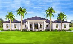 Plan Southern House Plan With Indoor-Outdoor Living Spaces Best House Plans, House Floor Plans, Architectural Design House Plans, Architecture Design, Florida House Plans, Florida Houses, Key West Style, House Construction Plan, Building A Porch
