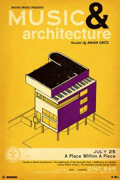 MUSIC AND ARCHITECTURE SERIES: A Place Within A Piece. 2013 Revive Music poster...