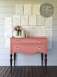 Mini-Buffet painted by Amanda of Ferpie and Fray in Apron Strings from Miss Mustard Seed Milk Paint #PaintedFurniture #shabbychicdresserscolors