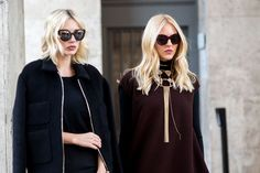 Blonde Hair #StreetStyleBeauty #fwp #ss15 (Foto: © Manuel Pallhuber/Hyped Vision)