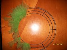 Tulle Wreath with wire frame